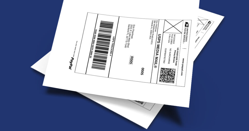 How to create a PayPal Shipping Label